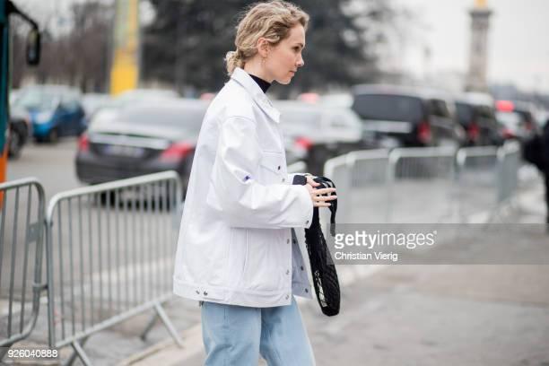 Olga Karput is seen outside Paco Rabanne on March 1 2018 in Paris France