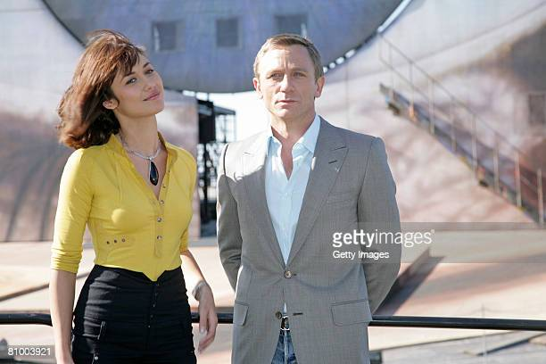 Olga Korylenko and Daniel Craig are seen on the sea stage in Bregenz on 06 May, 2008 in Bregenz, Austria. Since the 30th april the austrian director...