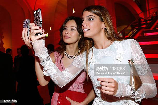 Olga Kurilenko and Bianca Brandolini d'Adda attend 'Liaisons Au Louvre III' Charity Gala Dinner Hosted by American International Friends of Le Louvre...