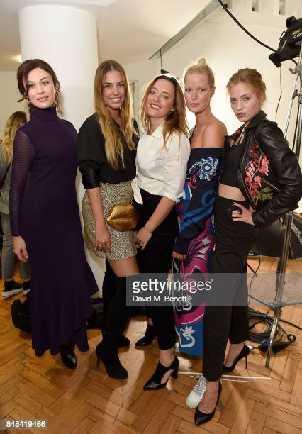 Olga Kurylenko Amber Le Bon Alice Temperley Caroline Winberg and Cosima Auermann attend Temperley London Fashion Show SS 18 during London Fashion...
