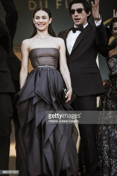 Olga Kurylenko and Adam Driver attend the Closing Ceremony screening of 'The Man Who Killed Don Quixote' during the 71st annual Cannes Film Festival...