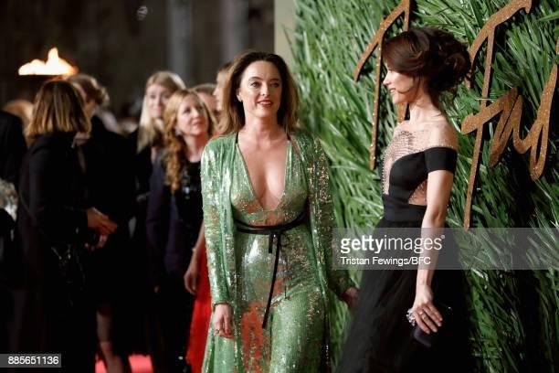 Olga Kurylenko and Alice Temperley attend The Fashion Awards 2017 in partnership with Swarovski at Royal Albert Hall on December 4 2017 in London...