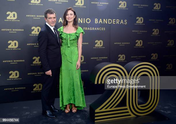 Olga Kurylenko and Antonio Banderas attend 20 years of Antonio Banderas's fragances party on July 7 2018 in Marbella Spain
