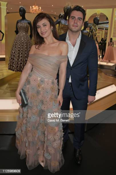 Olga Kurylenko and Ben Cura attend a gala dinner celebrating the opening of the Christian Dior Designer of Dreams exhibition at The VA on January 29...