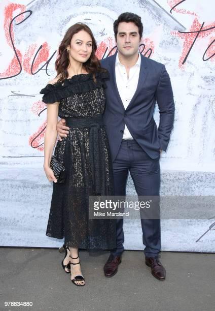 Olga Kurylenko and Ben Cura attend The Serpentine Gallery Summer Party at The Serpentine Gallery on June 19 2018 in London England