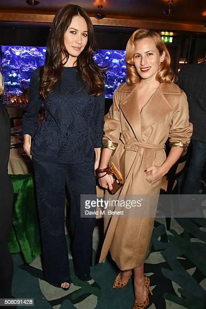 Olga Kurylenko and Charlotte Dellal attend a private dinner hosted by Creme de la Mer to celebrate the launch of Genaissance de la Mer the Serum...
