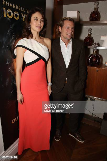 Olga Kurylenko and Ludovic du Plessis attend as LOUIS XIII and Dylan Jones GQ Editor in Chief cohost Intimate Dinner Celebrating the brand's '100...