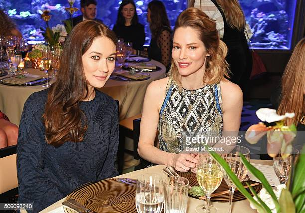 Olga Kurylenko and Sienna Guillory attend a private dinner hosted by Creme de la Mer to celebrate the launch of Genaissance de la Mer the Serum...