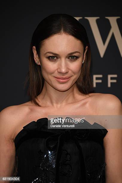 Olga Kurylenko arrives at IWC Schaffhausen at SIHH 2017 'Decoding the Beauty of Time' Gala Dinner on January 17 2017 in Geneva Switzerland