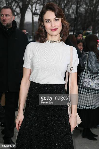 Olga Kurylenko arrives at the Chanel Haute Couture Spring Summer 2017 show as part of Paris Fashion Week on January 24 2017 in Paris France
