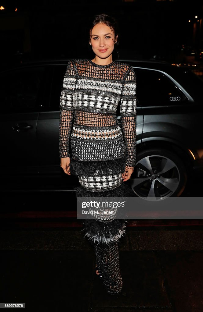 Olga Kurylenko arrives in an Audi at the British Independent Film Awards at Old Billingsgate on December 10, 2017 in London, England.