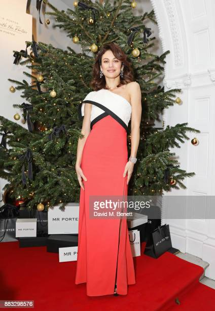 Olga Kurylenko attends a party hosted by NETAPORTER and MR PORTER to celebrate the festive season in style at One Horse Guards on November 30 2017 in...