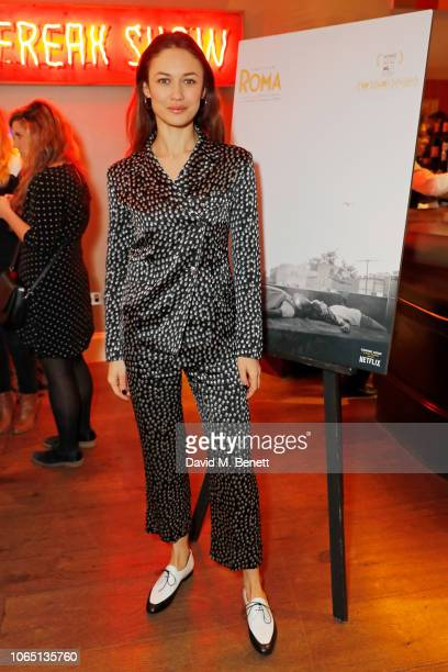Olga Kurylenko attends ROMA Screening hosted by Clive Owen with special guest Alfonso Cuaron QA at The Ham Yard Hotel on November 25 2018 in London...