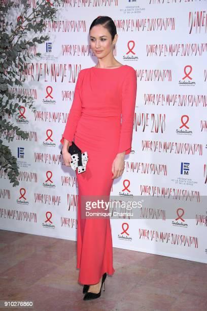 Olga Kurylenko attends the 16th Sidaction as part of Paris Fashion Week on January 25 2018 in Paris France