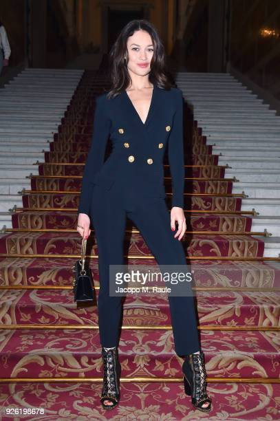 Olga Kurylenko attends the Balmain show as part of the Paris Fashion Week Womenswear Fall/Winter 2018/2019 on March 2 2018 in Paris France