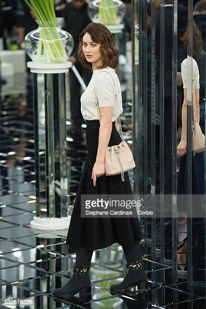 Olga Kurylenko attends the Chanel Haute Couture Spring Summer 2017 show as part of Paris Fashion Week on January 24, 2017 in Paris, France.