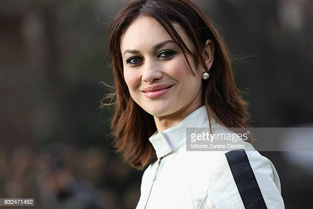 Olga Kurylenko attends the Christian Dior Haute Couture Spring Summer 2017 show as part of Paris Fashion Week at Musee Rodin on January 23, 2017 in...
