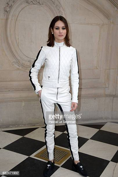 Olga Kurylenko attends the Christian Dior Haute Couture Spring Summer 2017 show as part of Paris Fashion Week on January 23 2017 in Paris France