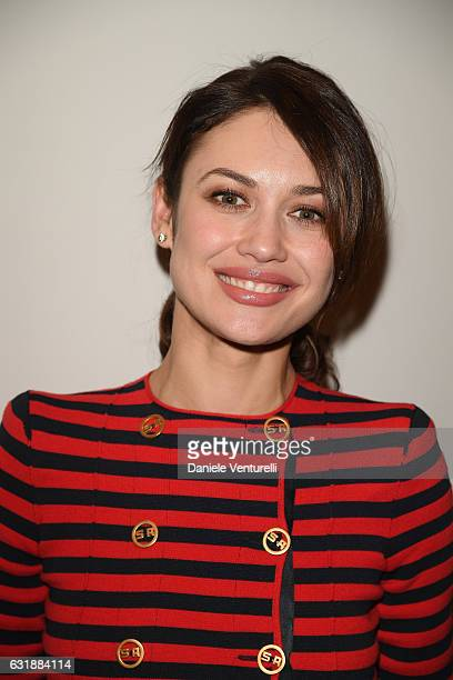 Olga Kurylenko attends the Da Vinci Collection by IWC Schaffhausen launch on January 17 2017 in Geneva Switzerland