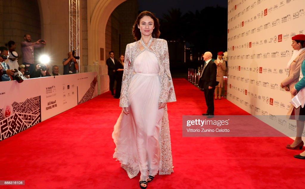 Olga Kurylenko attends 'The Death of Stalin' red carpet on day three of the 14th annual Dubai International Film Festival held at the Madinat Jumeriah Complex on December 8, 2017 in Dubai, United Arab Emirates.