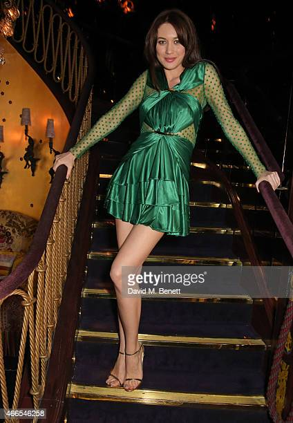Olga Kurylenko attends the 'Dior And I' UK Premiere after party at Loulou's on March 16 2015 in London England