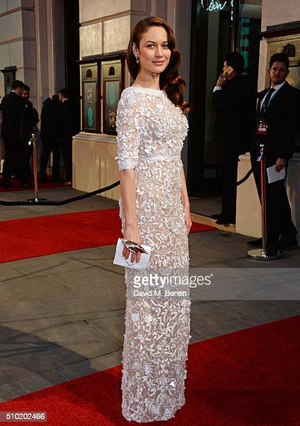 Olga Kurylenko attends the EE British Academy Film Awards at The Royal Opera House on February 14 2016 in London England