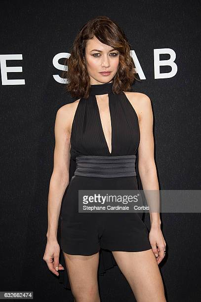 Olga Kurylenko attends the Elie Saab Haute Couture Spring Summer 2017 show as part of Paris Fashion Week on January 25, 2017 in Paris, France.