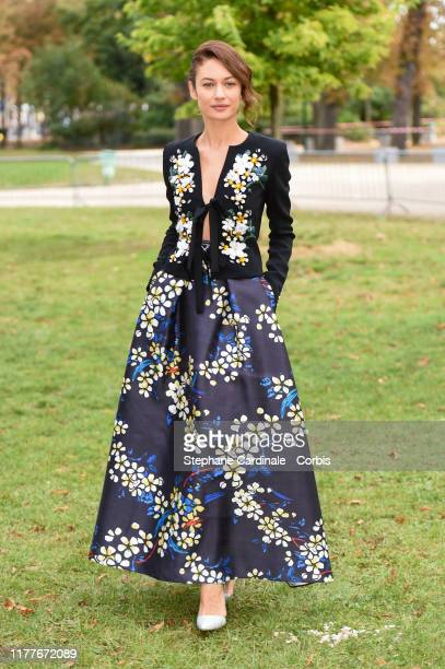 Olga Kurylenko attends the Elie Saab Womenswear Spring/Summer 2020 show as part of Paris Fashion Week on September 28 2019 in Paris France