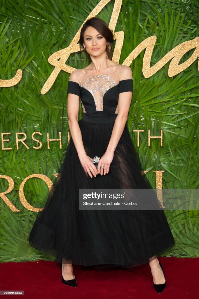 Olga Kurylenko attends the Fashion Awards 2017 In Partnership With Swarovski at Royal Albert Hall on December 4, 2017 in London, England.