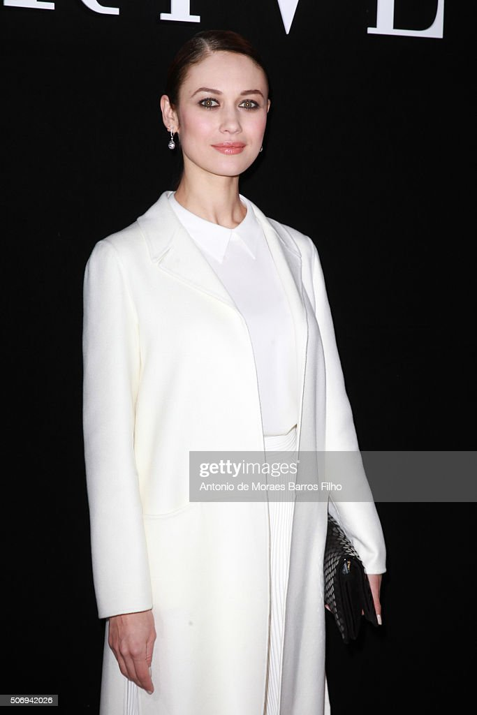 Olga Kurylenko attends the Giorgio Armani Prive Haute Couture Spring Summer 2016 show as part of Paris Fashion Week on January 26, 2016 in Paris, France.