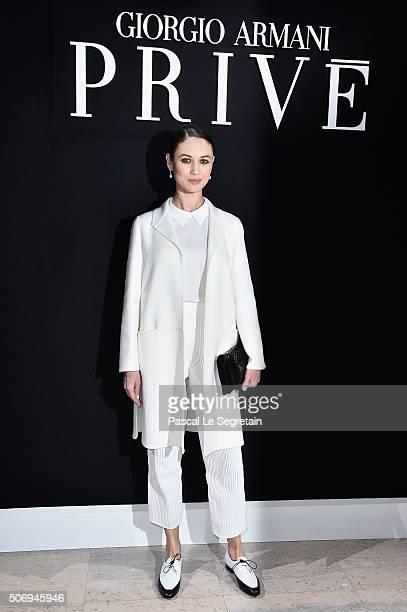 Olga Kurylenko attends the Giorgio Armani Prive Spring Summer 2016 show as part of Paris Fashion Week on January 26 2016 in Paris France