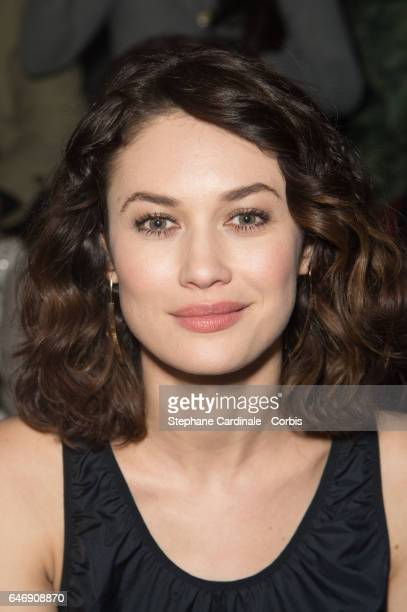 Olga Kurylenko attends the HM Studio show as part of the Paris Fashion Week on March 1 2017 in Paris France