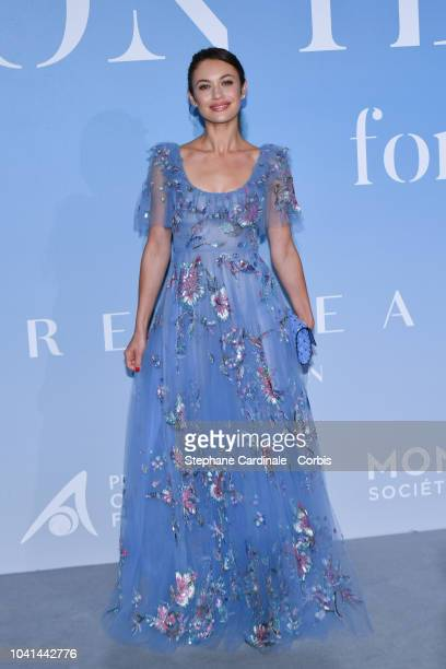 Olga Kurylenko attends the MonteCarlo Gala for the Global Ocean 2018 on September 26 2018 in MonteCarlo Monaco