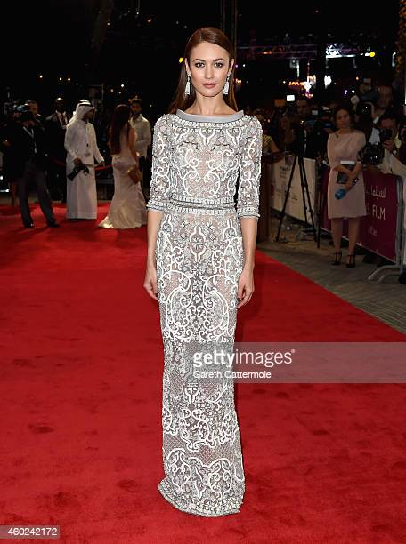 Olga Kurylenko attends the Opening Night Gala during day one of the 11th Annual Dubai International Film Festival held at the Madinat Jumeriah...
