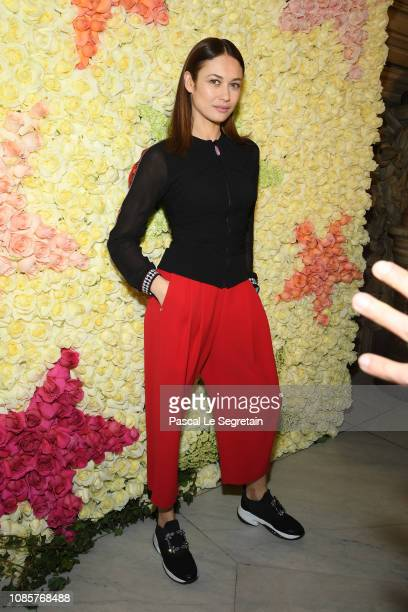 Olga Kurylenko attends the Schiaparelli Haute Couture Spring Summer 2019 show as part of Paris Fashion Week on January 21 2019 in Paris France