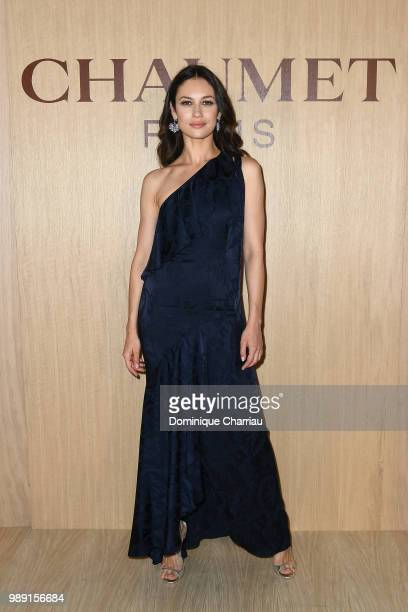 Olga Kurylenko attends the 'Tresors d'Afrique' Unvelling Of Chaumet High Jewelry Party as part of Haute Couture Paris Fashion Week on July 1 2018 in...