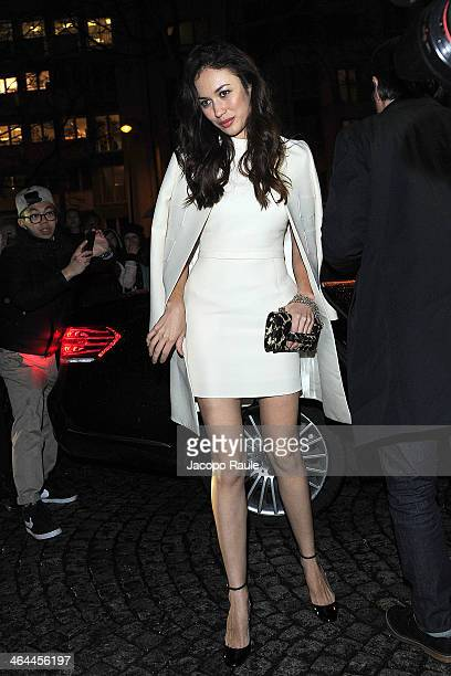 Olga Kurylenko attends the Valentino show as part of Paris Fashion Week Haute Couture Spring/Summer 2014 on January 22 2014 in Paris France