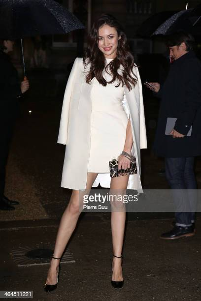 Olga Kurylenko attends the Valentino show as part of Paris Fashion Week Haute Couture Spring/Summer 2014 on January 22, 2014 in Paris, France.