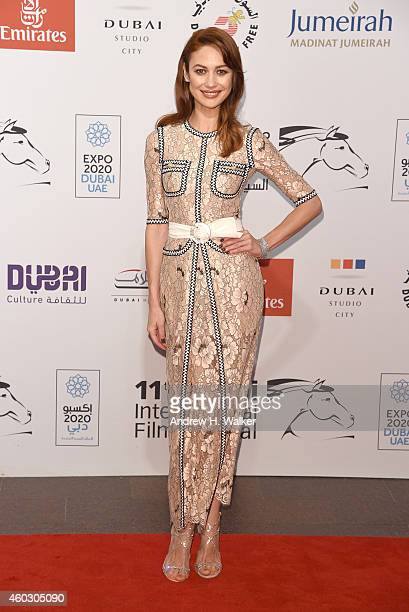 Olga Kurylenko attends The Water Diviner premiere during day two of the 11th Annual Dubai International Film Festival held at the Madinat Jumeriah...