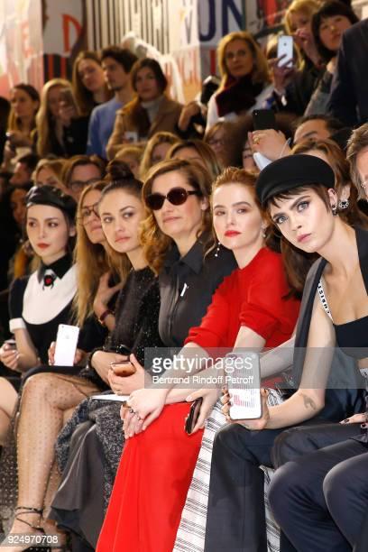 Olga Kurylenko Emmanuelle Devos Zoey Deutch and Cara Delevingne attend the Christian Dior show as part of the Paris Fashion Week Womenswear...
