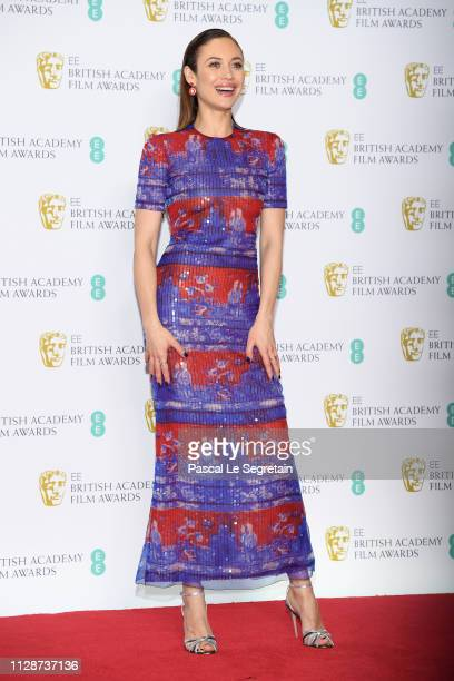 Olga Kurylenko in the press room during the EE British Academy Film Awards at Royal Albert Hall on February 10 2019 in London England