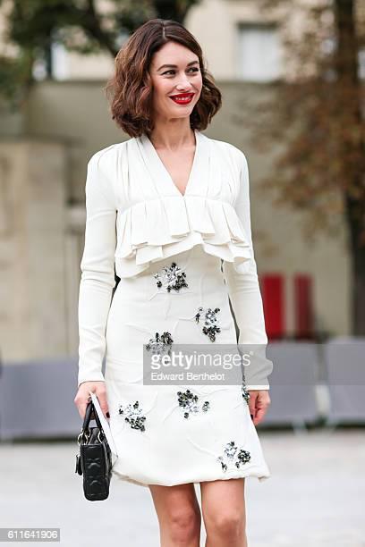 Olga Kurylenko is attending the Dior show during Paris Fashion Week Spring Summer 2017 at the Rodin museum on September 30 2016 in Paris France