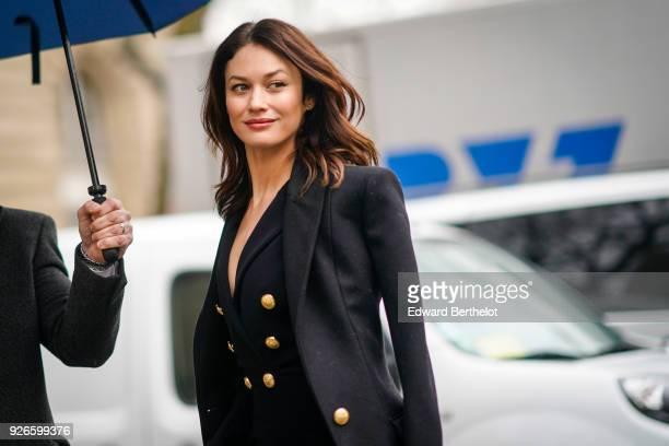 Olga Kurylenko is seen outside Balmain during Paris Fashion Week Womenswear Fall/Winter 2018/2019 on March 2 2018 in Paris France