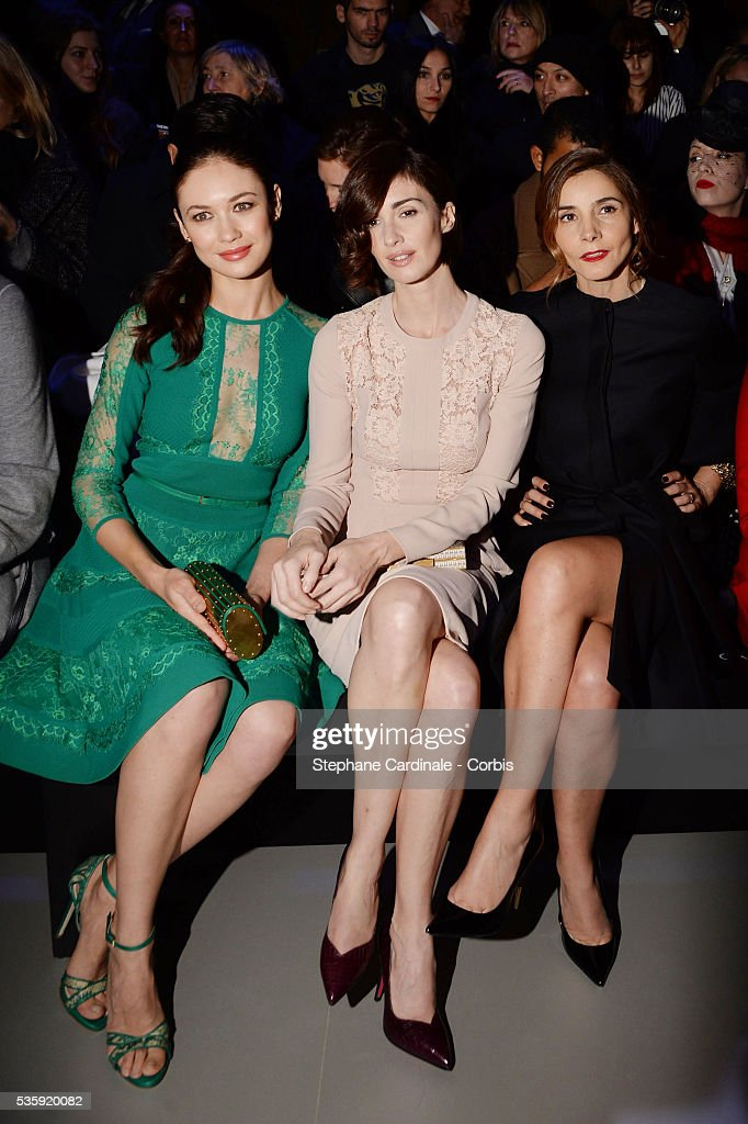 Olga Kurylenko, Paz Vega and Clotilde Courau attend the Elie Saab show as part of Paris Fashion Week Haute Couture Spring/Summer 2014 , at Theatre National de Chaillot, in Paris.