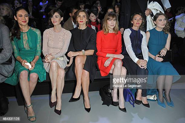 Olga Kurylenko Paz Vega Clotilde Courau MarieJosee Croze Anne Marivin and Deborah Francois attend the Elie Saab show as part of Paris Fashion Week...