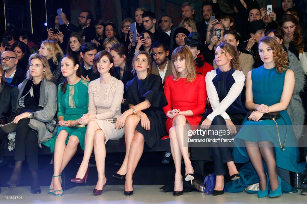 Elie Saab : Front Row - Paris Fashion Week - Haute Couture S/S 2014