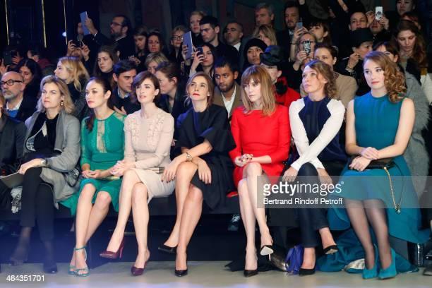 Olga Kurylenko Paz Vega Princess of Savoy Clotilde Courau MarieJosee Croze Anne Marivin and Deborah Francois attend the Elie Saab show as part of...