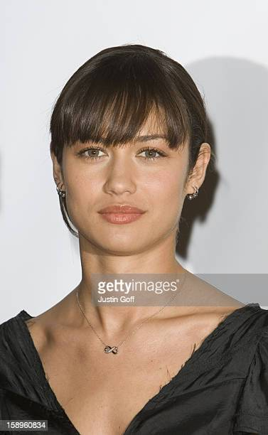 Olga Kurylenko Poses For The Media During A Photocall To Promote The New James Bond Movie Quantum Of Solace At Pinewood Studios London