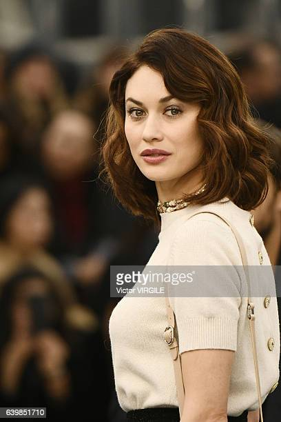 Olga Kurylenko walks the runway during the Chanel Spring Summer 2017 show as part of Paris Fashion Week on January 24 2017 in Paris France