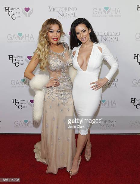 Olga Loera and Penelope Felix Ceja attends the Victorino Noval Foundation Christmas Party on December 17 2016 in Beverly Hills California